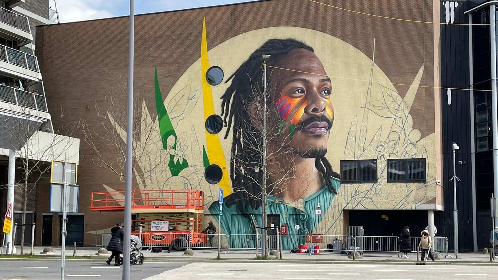 Jeangu Macrooy muurschildering
