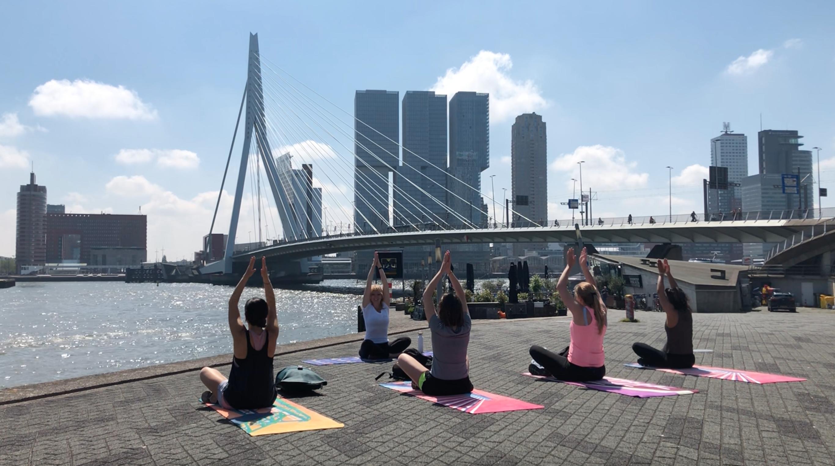 Rotterdamse ondernemers slaan handen en organiseren een sportieve wandeling langs de iconische bruggen